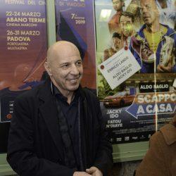 ABANO TERME (PD) 22-03-2019 Cinema Marconi: gli attori Aldo Baglio e Jacky Ido e il regista Enrico Lando presentano il film Scappo a casa al DETOUR FESTIVAL 2019. Aldo Baglio.