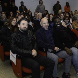 ABANO TERME (PD) 22-03-2019 Cinema Marconi: gli attori Aldo Baglio e Jacky Ido e il regista Enrico Lando presentano il film Scappo a casa al DETOUR FESTIVAL 2019. Da Sx Enrico Lando, Aldo Baglio,  Jacky Ido.
