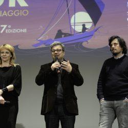 """ABANO TERME (PD) 23-03-2019 Cinema Marconi. Detour Festival 2019. Barbora Bobulova presenta il fim """"Saremo giovani e bellissimi"""" di Letizia Lamartire."""