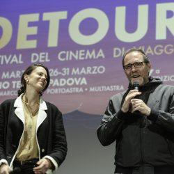 ABANO TERME (PD) 23-03-2019 Cinema Marconi. Detour Festival 2019. Valerio Mastrandrea presenta il suo fim RIDE da regista.Da sx l'attrice Chiara Martegiani, Valerio Mastrandrea.
