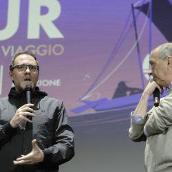ABANO TERME (PD) 23-03-2019 Cinema Marconi. Detour Festival 2019. Valerio Mastrandrea presenta il suo fim RIDE da regista. Da sx Valerio Mastrandrea e Francesco Bonsembiante