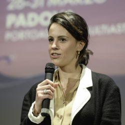 ABANO TERME (PD) 23-03-2019 Cinema Marconi. Detour Festival 2019. Valerio Mastrandrea presenta il suo fim RIDE da regista. L'attrice Chiara Martegiani.
