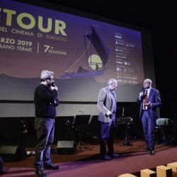 PADOVA 27-03-2019 Cinema portoAstra. Detour Festival. Da sx Marco Segato,  Francesco Bonsembiante con il vicesindaco Arturo Lorenzoni.